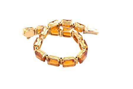 A citrine bracelet, by H. Stern