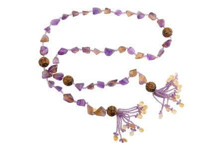 A long tassel necklace