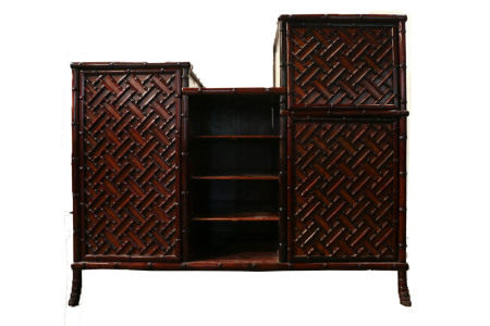LARGE ROSEWOOD SIDEBOARD, 20TH C.