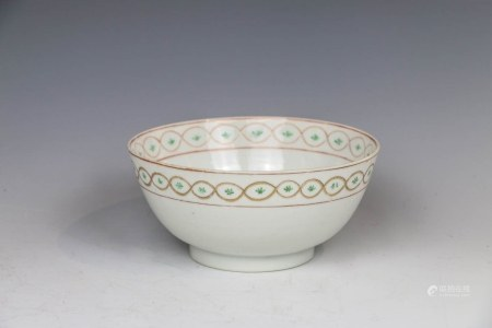 FAMILLE ROSE ARABIC-CHARACTER BOWL 18TH C
