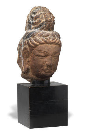 A limestone head of a Bodhisattva Tang Dynasty (2)