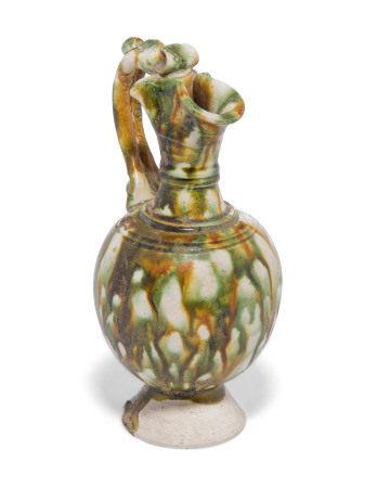 TANG DYNASTY (618-907) 唐 三彩釉执壶