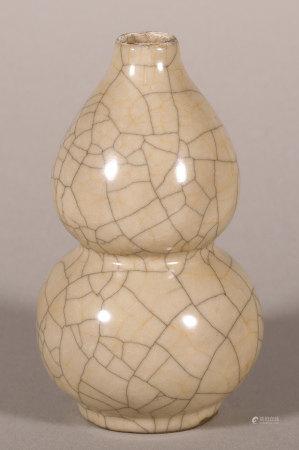 宋代 哥窯葫蘆瓶