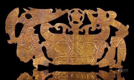 金沙文化純金鳳鳥、人、獸面、魚金飾