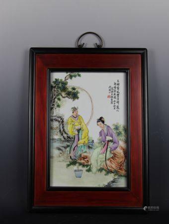 王锡良瓷板画