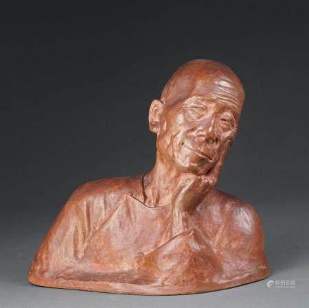 Gaston HAUCHECORNE (Actif en France, 1880-1945) Buste d'un p