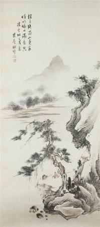 D'après LIN SHU / 林紓 (Chine, 1852-1924) Retraite au bord d'u