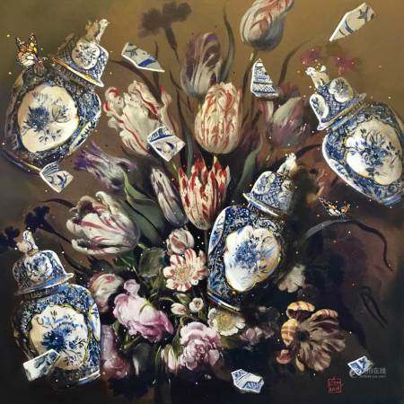 Louis Jansen van Vuuren (South African 1949-295) DELFT ON MY MIND Signed with artist's monongram oil