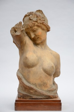 Marnix d'Haveloose: 'ladies bust' in terra cotta (67cm)