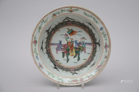 Chinese bowl in porcelain 'characters with foo dog' (29cm)