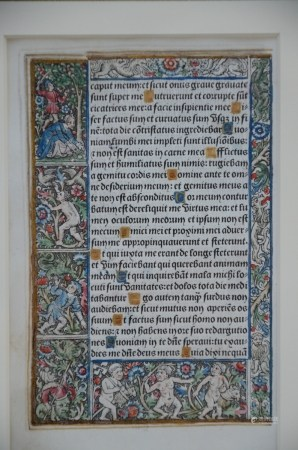 Illuminated 'livre d'heures', coloured engraving (11x17cm)