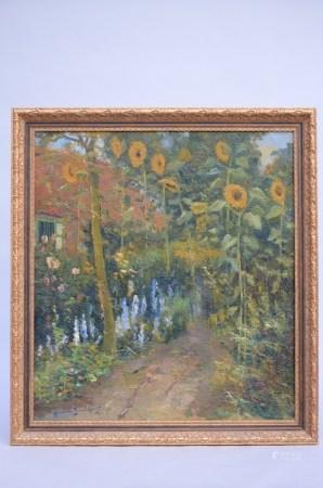 Broeckaert Herman: painting (o/c) 'sunflowers' (68x76cm)