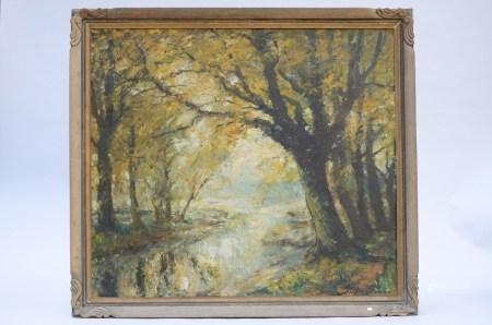 Pieter Gorus: painting o/c 'river view'