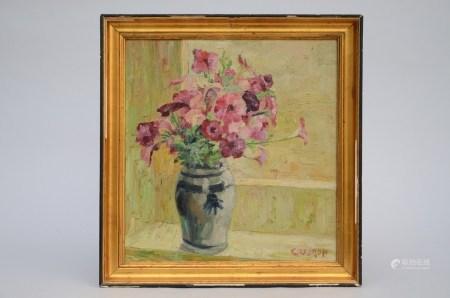 Coddron: painting (o/p) 'flower still life' (38x40cm)
