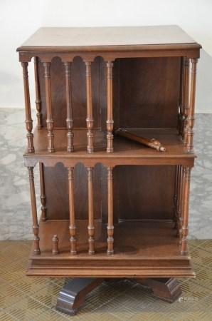 English turning library in mahogany (64x65x110cm)