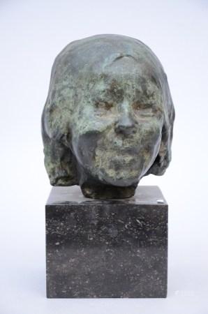 Rik Wouters (posthumously): bronze sculpture 'la petite rieuse' (23cm)