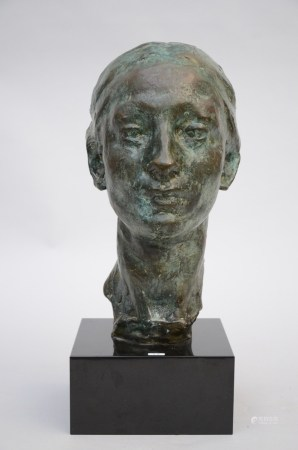Rik Wouters (posthumously): bronze statue 'bust of Nel' (38cm)