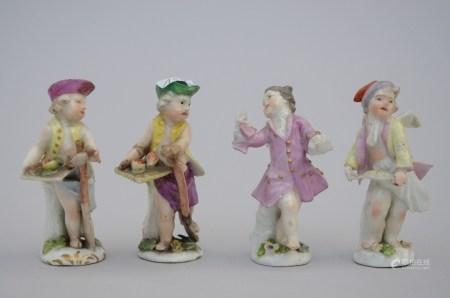 Lot: four porcelain figures 'seasons' (*) (9cm)