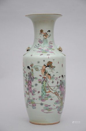Chinese Vase 'ladies with flower baskets' (57cm)