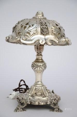 A Silver lamp, Louis-Philippe (29cm)