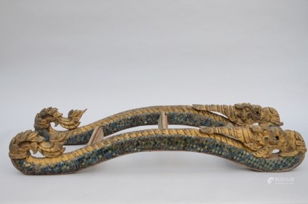 Thai stairs in the shape of a naga (133x42cm)