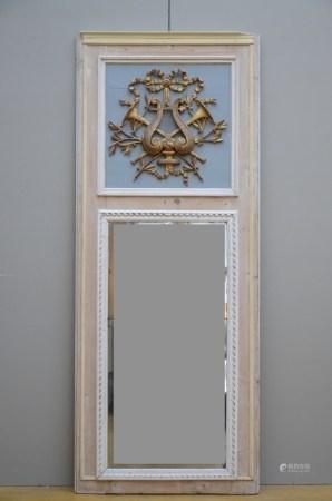A Louis XVI trumeau in bois sculptÈ (83x210cm)