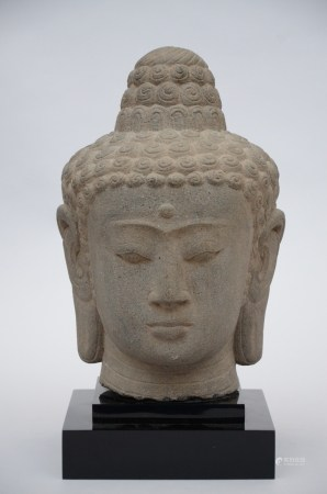 Buddha head in stone, Indonesia (39cm)