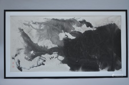 Luojing 'Ink Splash landscape', ink on paper (130x66cm)