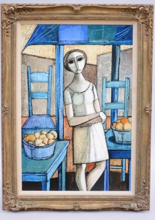 Ranucci: painting (o/c) 'lady in interior' (62x93cm)