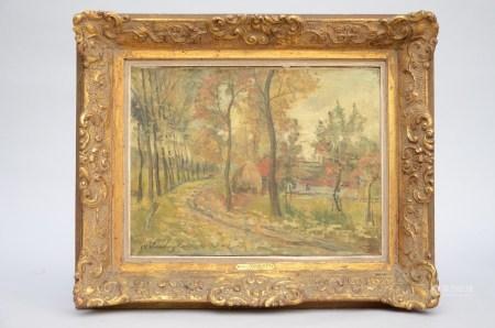 Isidor Verheyden: painting (o/c) 'farm' (39x52cm)