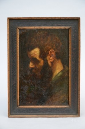 Anonymous: painting (o/p) 'study of man's head' (*) (22x35cm)