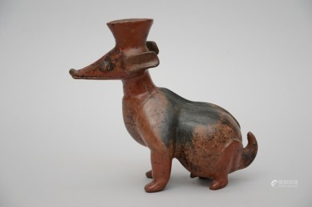 Terra cotta sculpture 'dog', South America * (25x28x13cm)