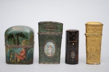 Lot: 4 cases, 18th - 19th century (6x8cm)
