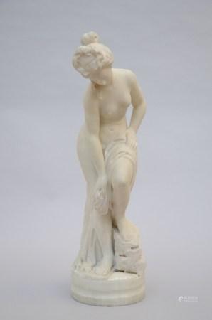 Musetti: marble sculpture 'baigneuse' (70cm)