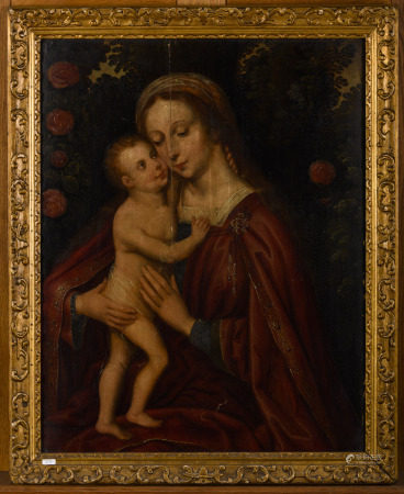 Anonymous (16th century): painting (o/p) 'Madonna and Child' (49x64cm)