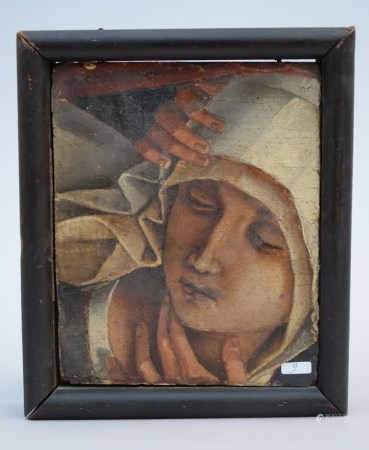 Anonymous (16th century): fragment (o/p) 'lamentation' (17x20cm)
