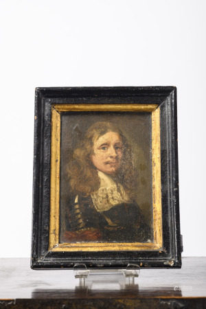 Anonymous (17th century): painting (o/p) 'portrait of a nobleman' (13x18cm)