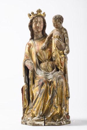 A wooden sculpture 'Sedes Sapientiae' (75cm)