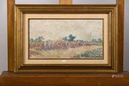 Anna De Weert: painting (o/c) 'june 1913' (41x22cm)