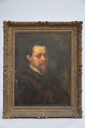 Anonymous (17th century): painting (o/c) 'portrait of a man' (*) (52x67cm)