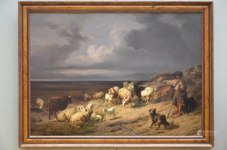 A.R. Jones painting o/c 'pastoral scene' (149x109cm)