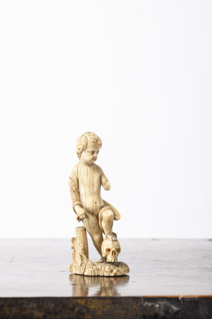 Ivory sculpture 'Amor', 17th century (*) (13cm)