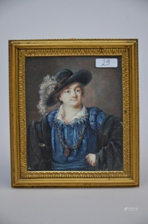 Miniature portrait 'nobleman' (*) (9x11cm)