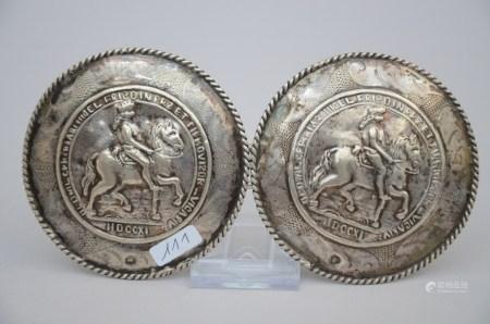 Coat hook in silver (8cm)