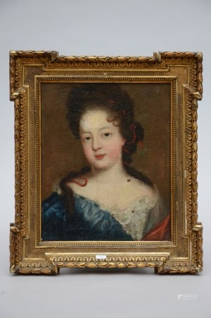 Anonymous (18th century): painting (o/c) 'portrait of a lady' (*) (32x26cm)