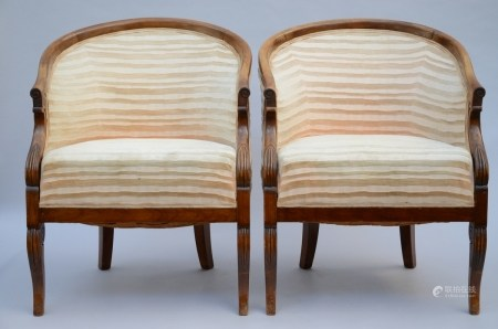 A pair of Charles X chairs