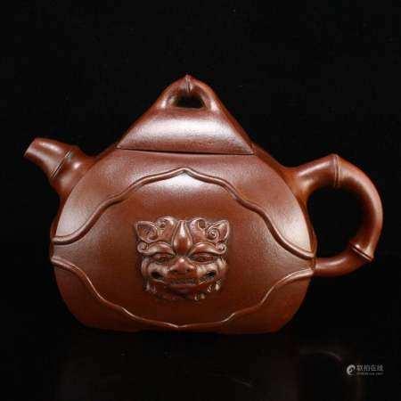 Chinese Yixing Zisha Clay Dragon Head Teapot