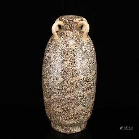 Chinese Twistable Glaze Porcelain Vase