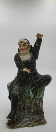 Chinese Mid-Qing Dynasty Dynasty Famille Rose Statue