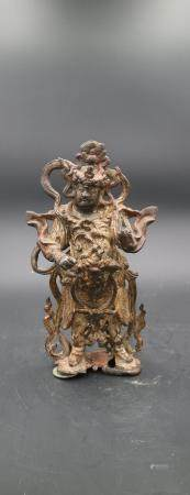 Chinese Ming Dynasty Bronze Wei Tuo Statue